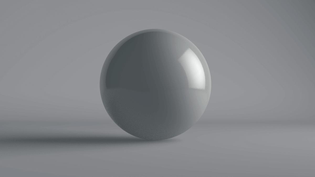 照明を設定した後のレンダリング画像