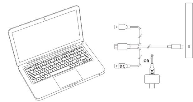 液晶タブレットの接続図