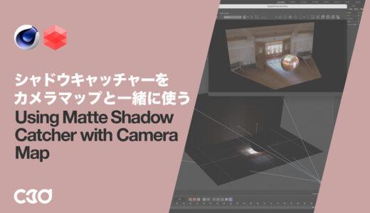 [Redshift] シャドウキャッチャーをカメラマップと一緒に使う
